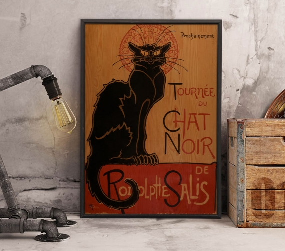 <h3>Le Chat Noir Ahşap Tablo</h3>