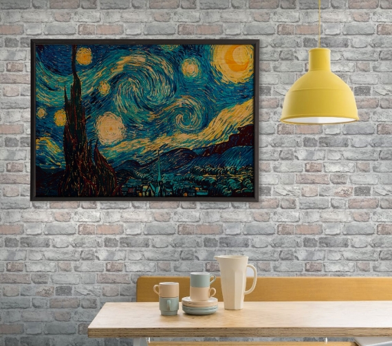 <h3>Starry Night Ahşap Tablo</h3>